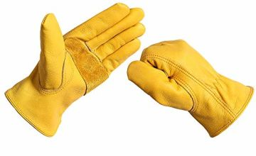 Work Gloves Leather Men Women - Acdyion Outdoor New Wear-Res
