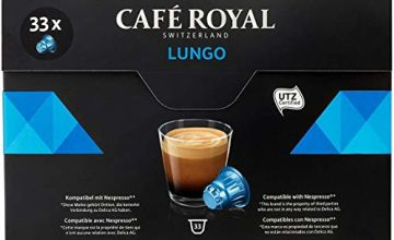 Save on Café Royal Lungo 33 Coffee Pods Compatible with Nespresso (R)* System, Intensity 4/10 and more