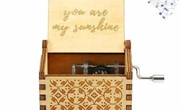 Funmo dad/mom to daughter music box,Pure Hand-Classical you are my sunshine musical box daughter dad Creative Wooden Crafts Best Gifts