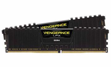 Corsair LPX 16GB (2 x 8GB) DDR4 3600 C18 (PC4-28800) 1.35V Desktop Memory - Black (CMK16GX4M2Z3600C18)