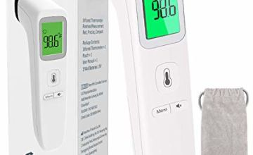 Forehead Thermometer Touchless Infrared Digital Thermometer Accurate and Fast Measurement of Temperature for Adult Baby and Kids