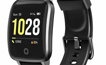 """LETSCOM Smart Watch Fitness Trackers with Heart Rate Monitor Step Calorie Counter Sleep Monitor, IP68 Waterproof Smartwatch 1.3"""" Color Screen, Activity Tracker Pedometer for Women and Men"""