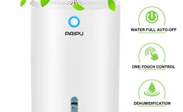 PAIPU Dehumidifier - 900ML Portable Small Dehumidifiers electric for Home Bathroom Bedroom Basement Closet RV Camper Garage,Anti-Overflow Electric Mini Dehumidifier for Space Up to 431 Sq.ft