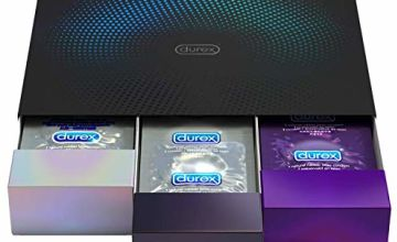 Durex Condoms Surprise Me Deluxe Drawer Variety Pack, Pack of 30