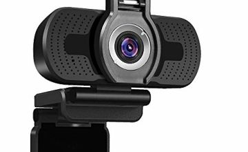 Dericam High Definition Webcam, HD Computer Camera, 2 megapixel 1080P, Desktop and Laptop USB Camera, Plug and Play, Video Calling, Live Streaming, Built-in Mic, Flexible Rotatable Clip
