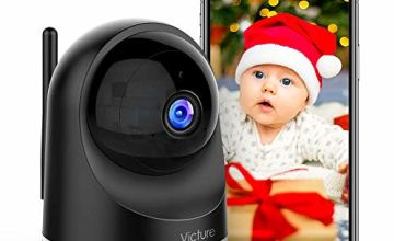 Victure Dualband 2.4Ghz and 5Ghz 1080P Pet WiFi Camera Baby Monitor with Camera, Home Security Indoor Camera with Motion Detection, 2-Way Audio