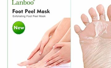 2 Pairs Lanboo Exfoliating Foot Peel Mask, Baby Foot Baby Feet Foot Peel, Foot Peel Booties for Callus Dead Skin, Get Soft Touch Smooth Feet in 1 Week, Repair Rough Heels for Men Women