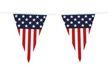 Boland American USA Flag Bunting Party Banner Decoration Accessory 6M