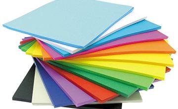 CI A4 Paper Stack, 500 Sheets, 17 Colours, 80gsm, Multi, 31.5x22x5 cm