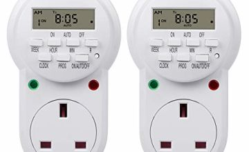 HBN Weekly Programmable Electronic Plug-in Digital Timer with LCD Display 24 Hours / 7 Day