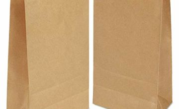100 Pack Brown Paper Bag,Paper Food Bags,Paper Lunch Bags,Kraft Paper Bags, DIY Gift Decoration Bags Without Handles for Christmas Wedding Birthday Party 70 g./m2