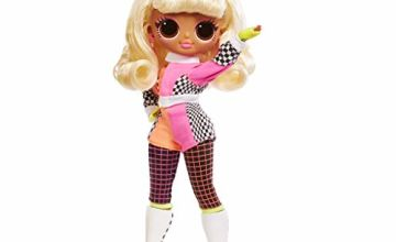 L.O.L. Surprise! 565161E7C O.M.G. Lights Speedster Fashion Doll with 15 Surprises, Multi