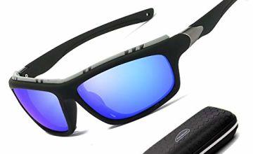 Sunglasses Polarised for Men Women/Cool Fishing Golf sun glasses/Eyewear Outdoor sports sunglasses (Oranger)