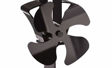 TOMERSUN 4 Blades Stove Fan Heat Powered Wood/Log Burner Fan Eco Friendly Heat Circulation for Wood/Log Burner/Fireplace