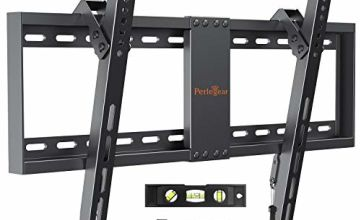 TV Wall Bracket, Tilt TV Mount for Most 37-82 inch LED, LCD, OLED, Flat&Curved TVs up to 60kg, Max VESA 600x400mm, Bubble Level, Cable Ties included