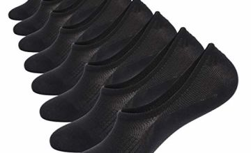 WANDER 8 Pairs No Show Socks Thin Non Slip Low Cut Cotton Invisible Socks Men&Women Boat Liner