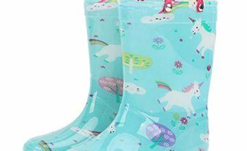 OldPAPA Rain Boots for Kids Lightweight Wellingtons Rubber B