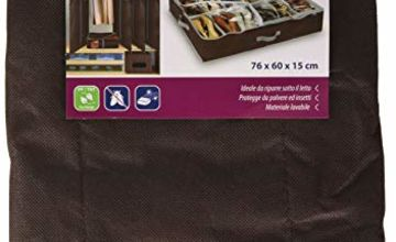 Domopak living Large Underbed Shoe Organiser, 12 compartments (Brown ) 76 x 60 x 15 cm