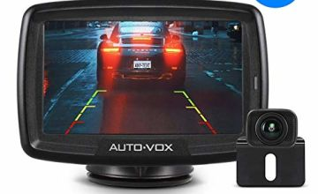 "AUTO-VOX CS-2 Digital Wireless Reversing Camera kit, Stable Signal Rear Camera, Super Night Vision Backup Camera and 4.3"" Rear View Monitor for Vans,Trucks,Camping Cars,RVs"