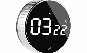 Kitchen Timer, HOMMINI Digital Cooking Timer, Larger LCD Display Loud Alarm, One Button Operation Magnetic Countdown Timer for Kids Teacher and Elderly, for Classroom Homework Kitchen and Fitness