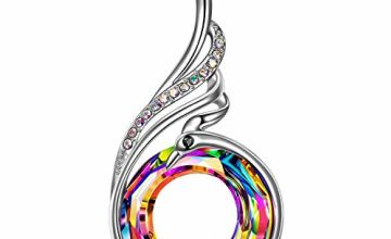 Kate Lynn Nirvana of Phoenix Necklace Crystal Pendant Alloy Chain Gifts for Wife Girlfriend Mum Her Birthday Friendship Gifts Wedding Gifts Jewellery Box Packaging Women Jewellery