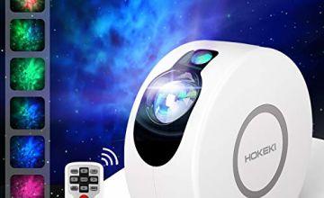 HOKEKI LED Night Light Projector, 2-in-1 Star Night Galaxy Projector Lightt Sky Night Projector Stars Projector Light for Chidren, Adults, Bedroom, Holidays
