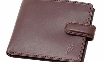 STARHIDE Mens RFID Blocking Genuine VT Leather Credit Cards