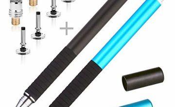 MINGRU Fine Tip Stylus Pen,2 in 1 Capacitive Disc Stylus Gel