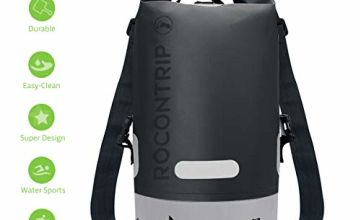 ROCONTRIP Premium Waterproof Bag, Sack with long adjustable Shoulder Strap Included, Perfect for Kayaking Boating Canoeing Fishing Rafting Swimming Camping Snowboarding