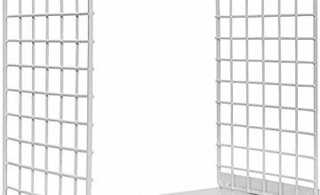 Metal Bookend, Hisredsun 1 Pairs Modern Geometric Design Boo