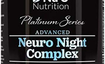 5-HTP, Magnesium & Natural Melatonin Sources Sleeping Aid | 90 Vegetarian Capsule Pills | Montmorency Cherry, Chamomile, Lemon Balm, L-Theanine, Lavender Flower and Vitamin B12 | Soothing Blend