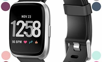 HUMENN Compatible for Fitbit Versa Strap/Fitbit Versa 2 Strap, Classic Adjustable Replacement Sport Wristband for Fitbit Versa/Versa 2/Versa Lite Smartwatch Large Small