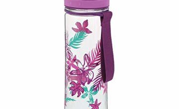 Aladdin Aveo Water Bottle , Purple Print - 0.6 Litre