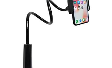 Tryone Gooseneck Phone Holder - Flexible Arm Mount Stand for iPhone Series/Samsung Cellphones/Google Pixel and more, 27.5in Overall Length (01-Black)
