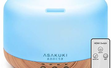 ASAKUKI Essential Oil Diffuser 1000ML Large Remote Control f
