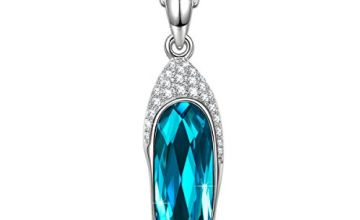 Kami Idea Women Necklace Blue Green Crystal Sparkling Pendant Fashion Jewellery Gifts for Women Birthday Gifts for Her Anniversary Present for Her Graduation Gifts for Girls Daughter Gifts for Mum