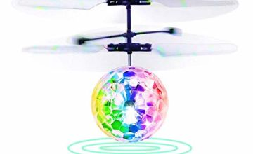 Betheaces Flying Ball, Kids Toys Remote Control Helicopter Mini Drone Magic RC Flying Toys with Shinning LED Lights Fun Gadgets for Boys Girls Kids Teenagers Adults Indoor Outdoor Garden Games