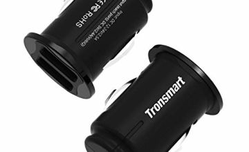 Tronsmart Car charger, C24 2-Pack 4.8A 24W Dual USB Car adapter Fast Charging Small Mini 2-port Cigarette Lighter Adapter With VoltiQ Tech For iPhones, Samsung, iPad, Android Smartphones, Tablets ect