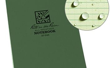 Rite in the Rain Universal Pocket Top Spiral Notebook - Green/Green, 4 x 6 Inch