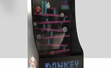 Paladone Donkey Kong Money Box | Official Nintendo Coin Piggy Bank | Retro Gaming Arcade Machine Design | For Kids & Adults, Plastic & Acrylic, 30cm Tall
