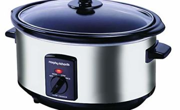 Morphy Richards Oval Slow Cooker 3.5L Polished Stainless Steel Slowcooker