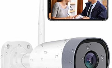 Mibao Outdoor Security Camera, 1080P Weatherproof WiFi CCTV Camera,Bullet IP Camera With Night Vision, Two Way Audio, Motion Detection, Cloud Storage Service, Compatible with IOS/Android/PC