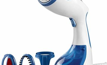 Beautural Garment, Wrinkle Remover, Clean and Sterilize, 30s Fast Heat-up, Auto Shut-Off, 100% Safe Handheld Fabric Steamer for Home and Travel, 1200-Watt, Dark Blue