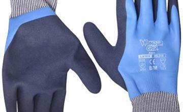 Wonder Grip WG-318 Aqua Waterproof gloves, blue/black, M/8