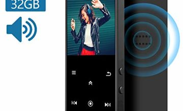 "32GB MP3 Player, IHOUMI MP3 Player with Bluetooth 4.2, MP3 music Player with FM Radio, Recording, 1.8"" Screen, HiFi Lossless Sound, Build-in HD Speaker,Support up to 128GB"
