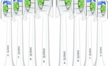 Qlebao Replacement Toothbrush Head, 8 Pack DiamondClean Toothbrush Head, fit FlexCare, ProtectiveClean, HealthyWhite, EasyClean and PowerUp DiamondClean