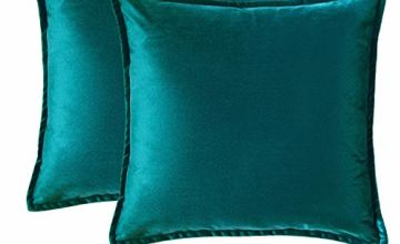 Bedsure Velvet Cushion Cover- Decorative Pillowcases Vintage Throw Cushion Covers for Sofa and Couch