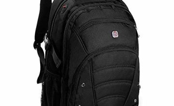 Laptop Backpack for up to 15.6 inch laptops/Anti-Theft Travel Laptop Rucksack With USB Charging Port/Waterproof Backpack Cover/1680D High Quality Fabric/Hold up to 30KG//Perfect Custom Sleeve Fit for your Laptop/100% Money Back Guarantee/All Black