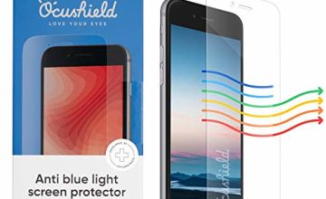 Ocushield Anti Blue Light, Tempered Glass Screen Protector For Apple iPhone 6,6 Plus - Accredited Medical Device- For Better Sleep