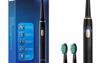 Sonic Electric Toothbrush,Electric Toothbrush for Adults with 4 Modes 4 Hours' Charge Lasts 30 Days' Use, 2 Mins Smart Timer and IPX7 Waterproof Black Fairywill FW551